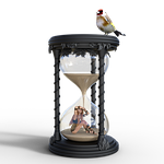 hourglass, time, transience