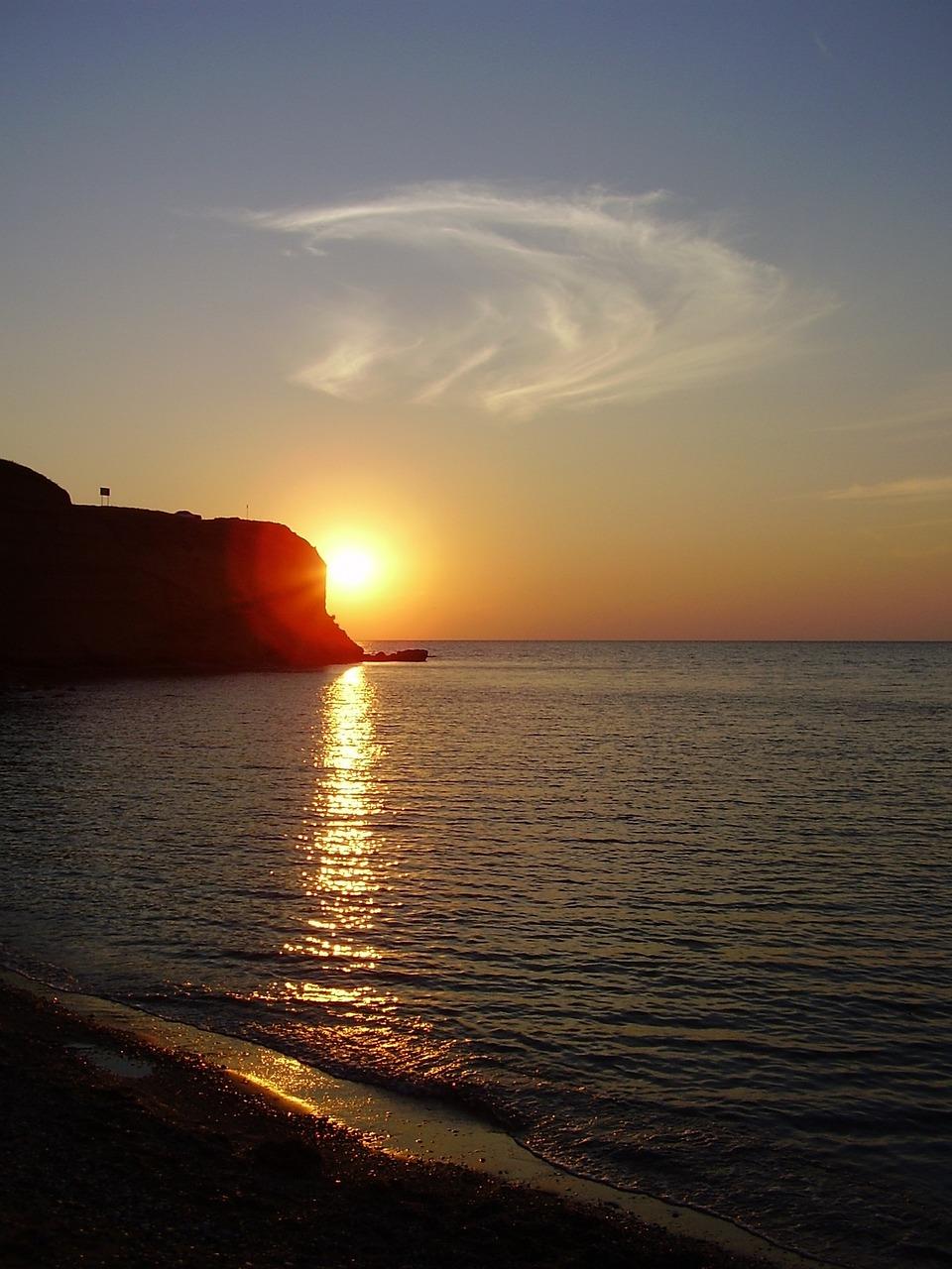 Закат на море в крыму фото