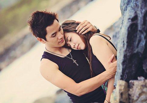 Love, Couple, Happy, Hug, Young, People