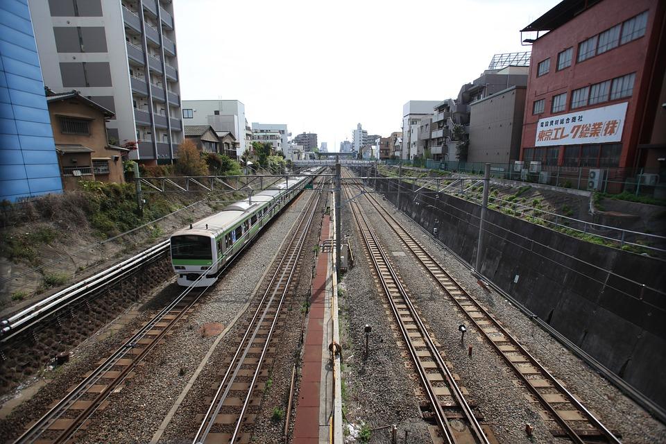電車, 日本, 池袋, 山手線, ライン, 都市, 東京