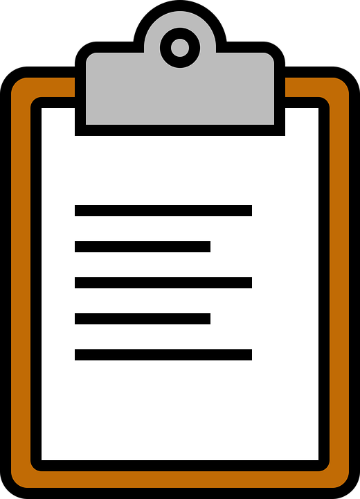 Icon Clipboard Paperclip · Free vector graphic on Pixabay