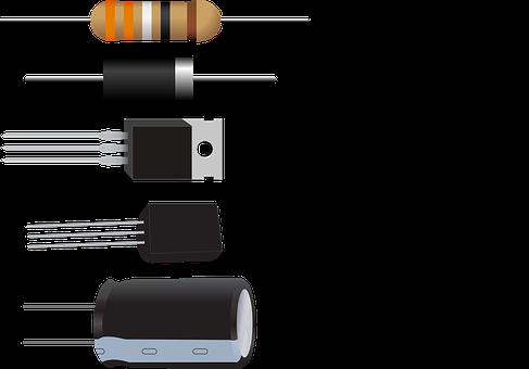 Diode, Resistor, Capacitor, Transistor
