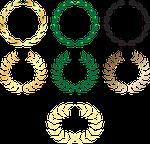 wreath, laurel, award