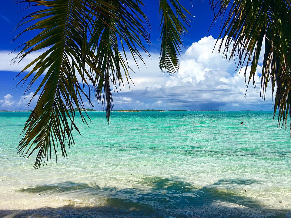 Beach Sand Clouds Sea Caribbean Water Peaceful: Bahamas Beach Caribbean · Free Photo On Pixabay
