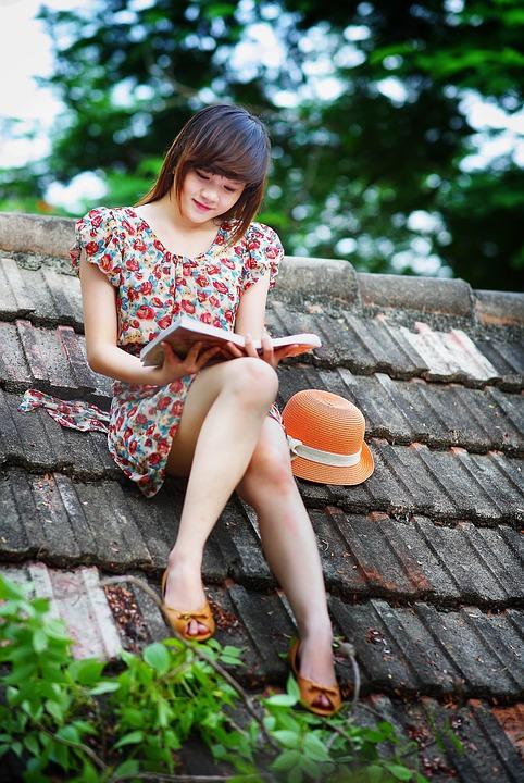 Ragazza, Lettura, Libro, Educazione, Giovane, Persone