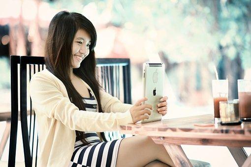Ipad, Girl, Tablet, Internet, Technology