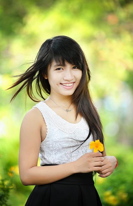 smiling Chinese girl