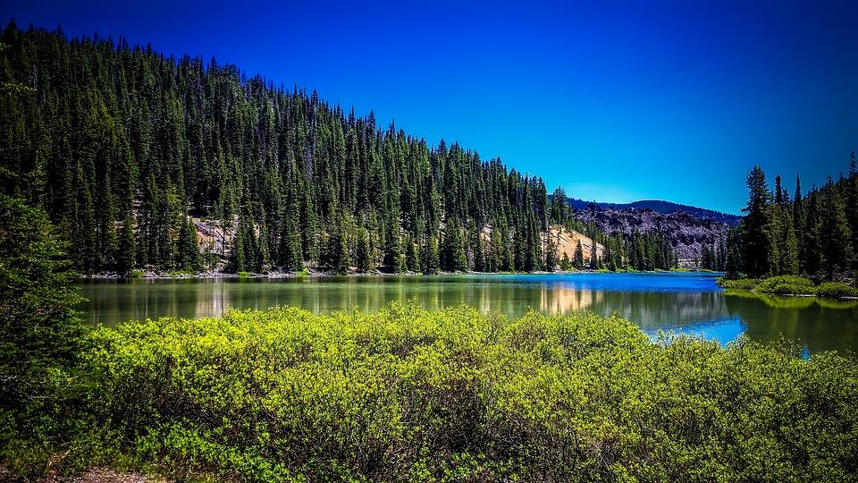 Lac De Todd, Oregon, Paysage, Scénique, Montagnes