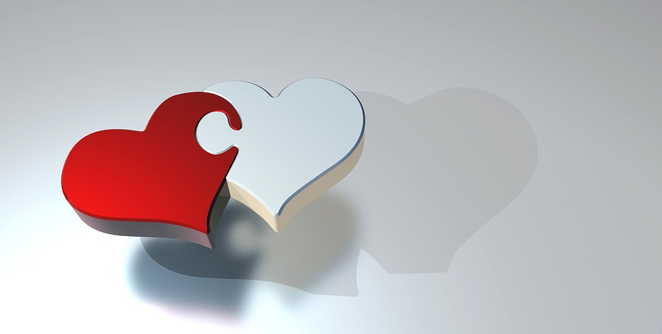 Puzzle, Heart, Love, Two Hearts, Partnership