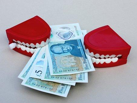 Money, Grab, Teeth, Currency, Finance
