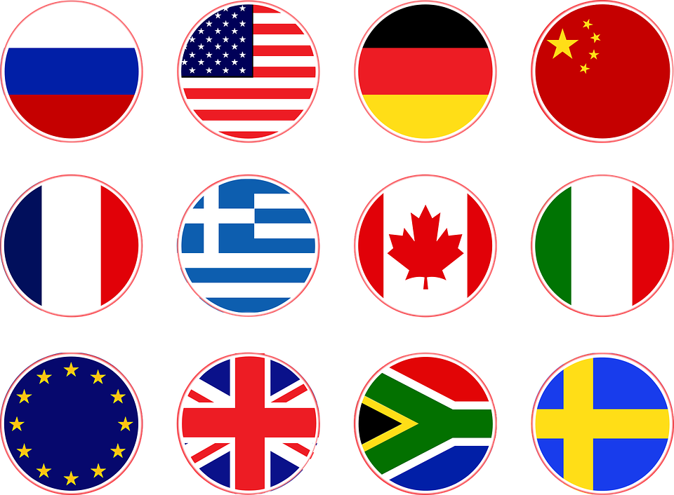 Image vectorielle gratuite: Drapeaux, Russie, Usa ...