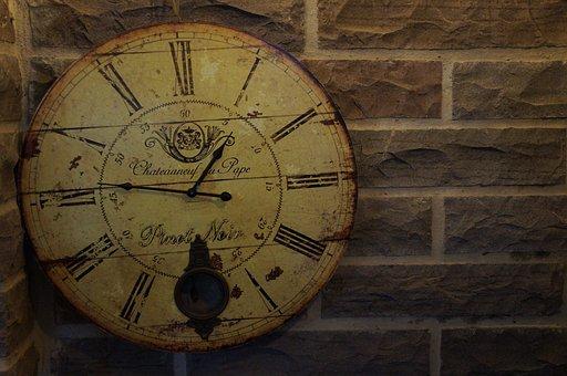 時間, 生活, 時計, 壁, 古い, レトロ