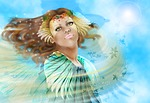 priestess, goddess, wind