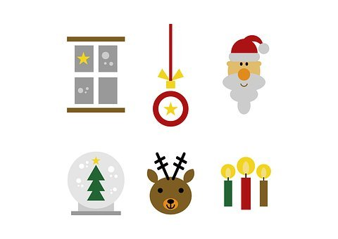 Set, Christmas, Figure, Clip Art