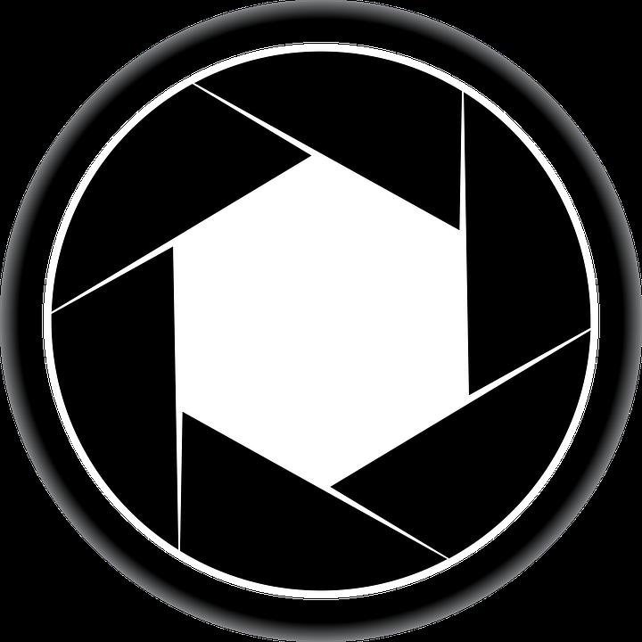 free vector graphic lens photo camera icon shutter