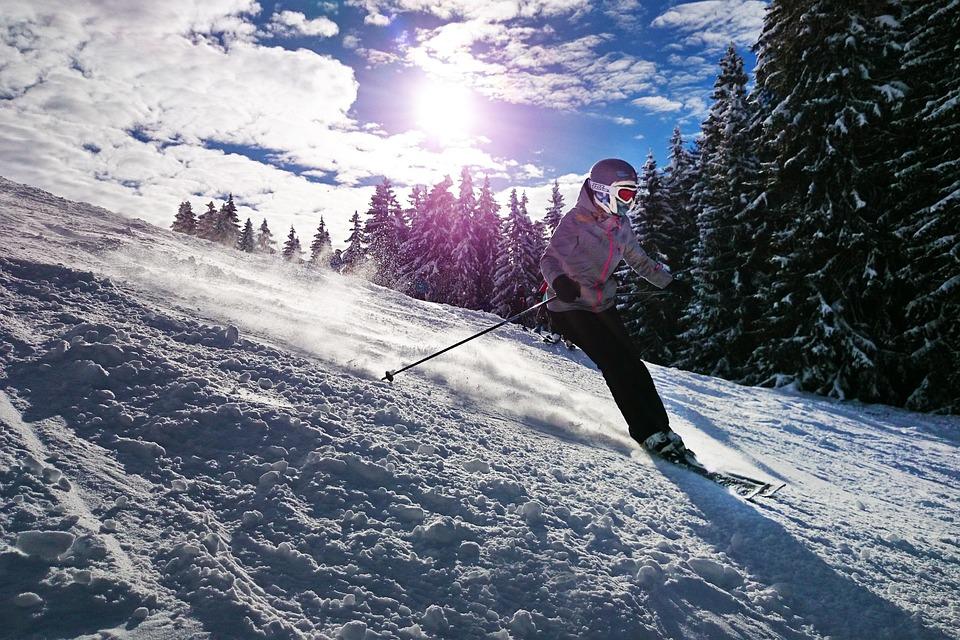 Skiing, Girl, Sun, Snow, Winter, Ski, Sport, Mountain