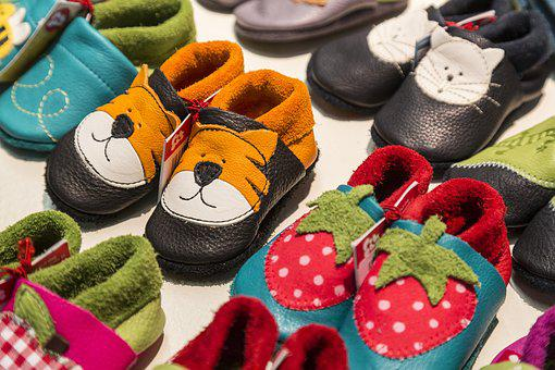 Children, Children'S Shoes, Shoes, Tiger