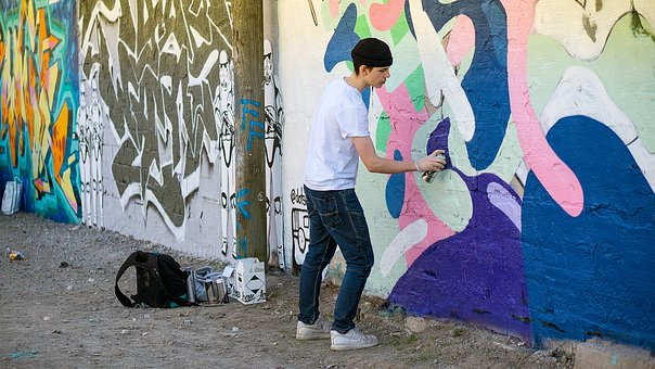 Graffiti Painter, Hipster, Adolescent