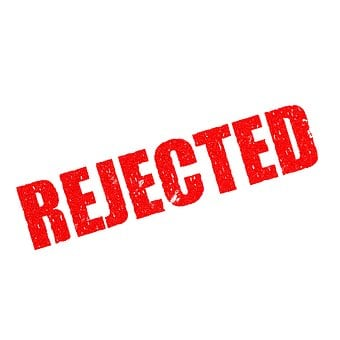 Stamp, Rejected, Document, Reject