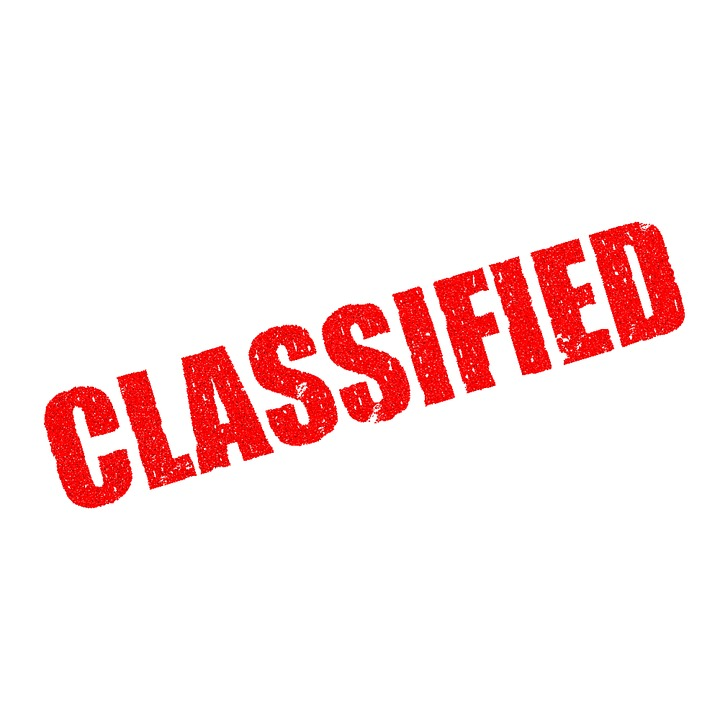 Top Secret, Classified, Confidential, Secrecy, Private