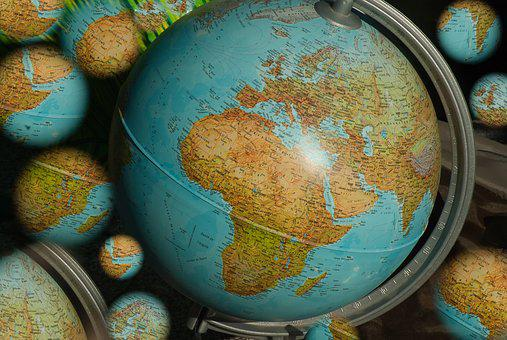 Terrestrial Globe, World Map