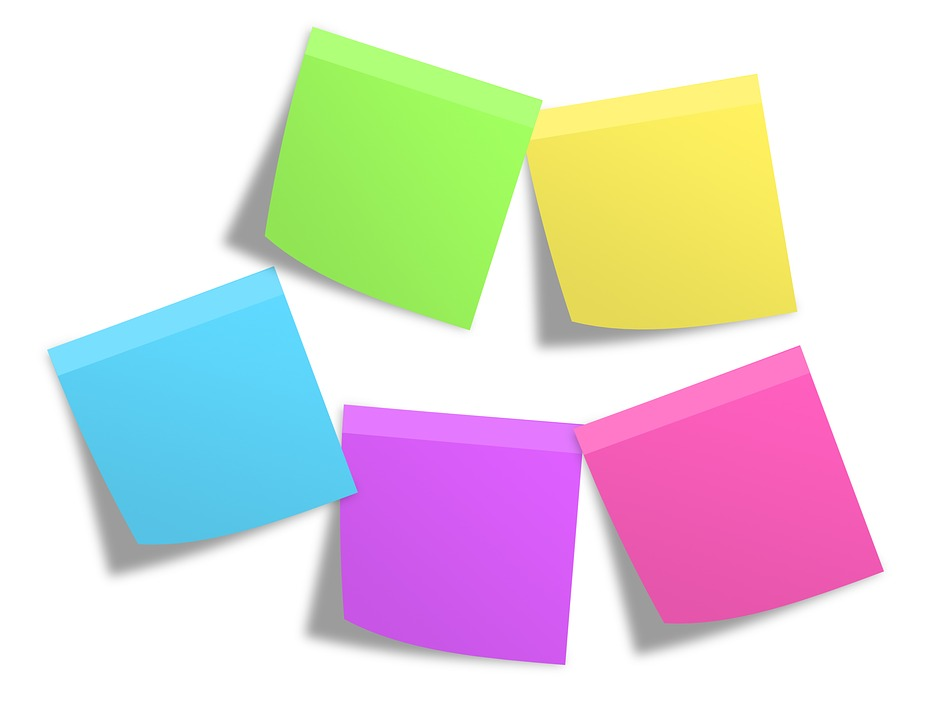 postit memos notes free photo on pixabay With letter post its