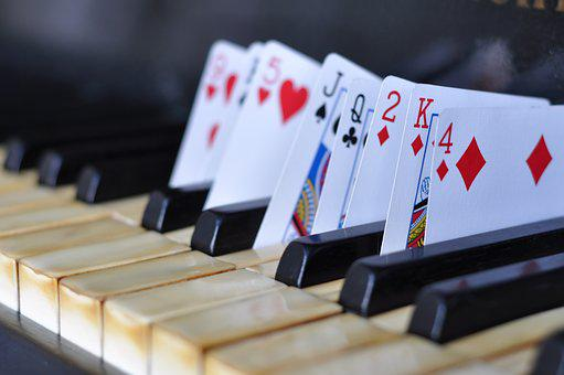 Piano, Magic, Cards, Music, Magician