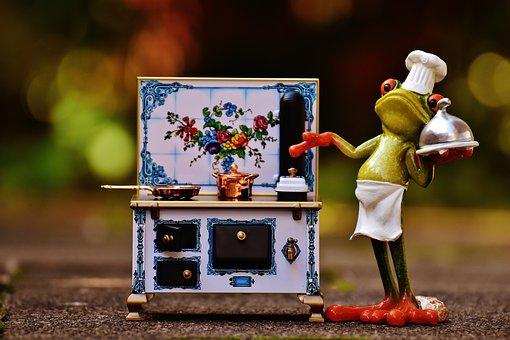 Frog Cooking Stove Pan Pot Eat Kitchen Gou