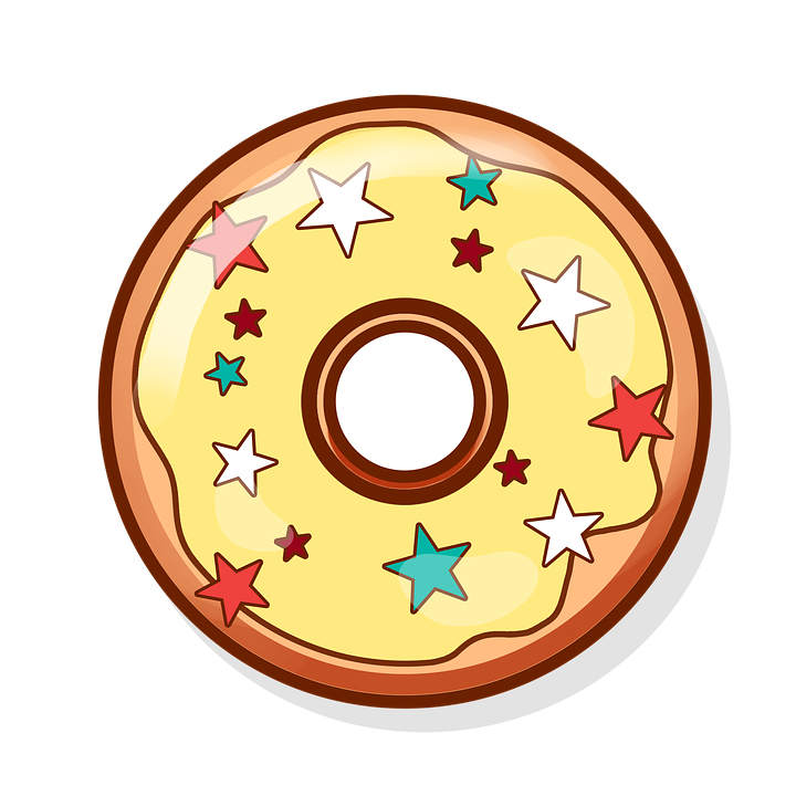 Free illustration donut sweets baking food tasty for Credence en verre transparent cuisine
