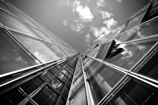 Building, Architecture, Black And White
