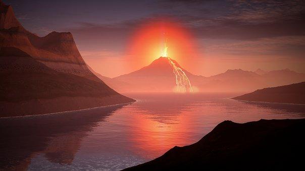 ฝันเห็นภูเขาไฟ