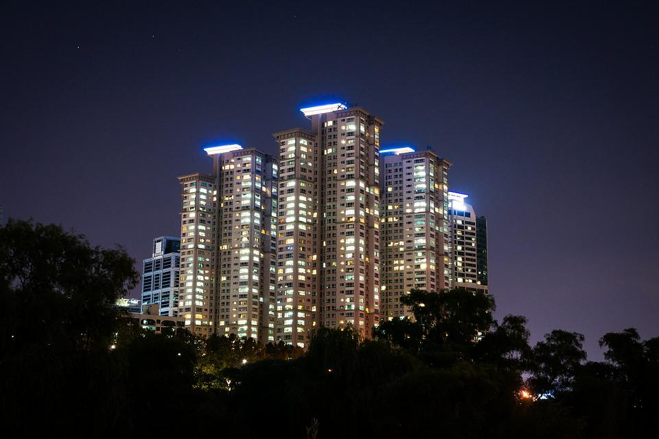 Apartment Building At Night free photo: building, night, night scene - free image on pixabay