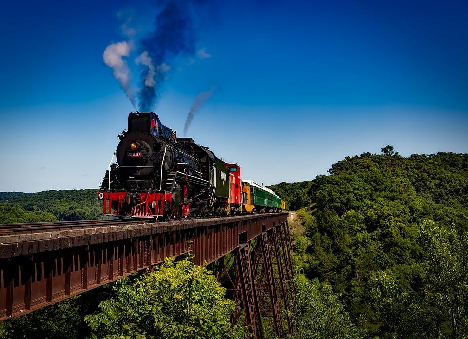Tren, Locomotora, De Viaje, Transporte, Ferrocarril