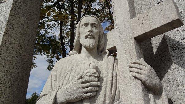 Jesus, Cross, Graveyard, Symbol