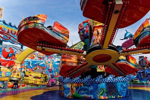 Fair Folk Festival Rides Year Market Color