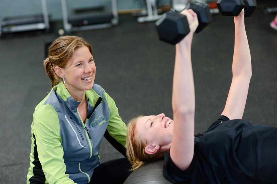 Woman, Gym, Person