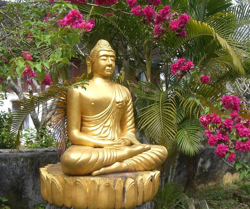 Religie, Geloof, Boeddha, Goud, Rust, Meditatie