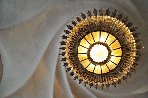 ランプ, 楽しい, シーリング ランプ, アーキテクチャ, ホーム, アート