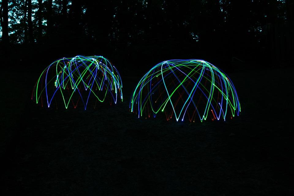 Light Dome, Light, Lichter, Nacht, Projektion