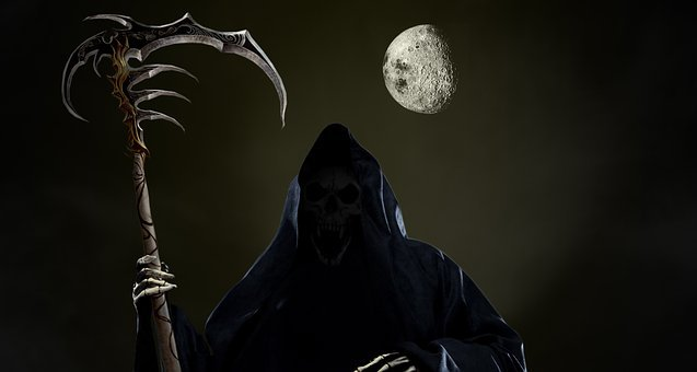 Skull, Grim Reaper, Wallpaper