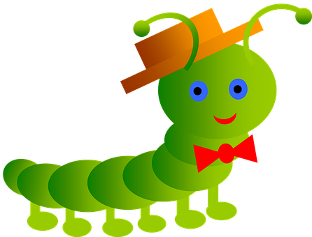 Inchworm, Smile, Worm, Papillon