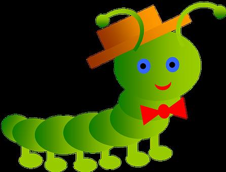 Inchworm, Smile, Worm, Papillon
