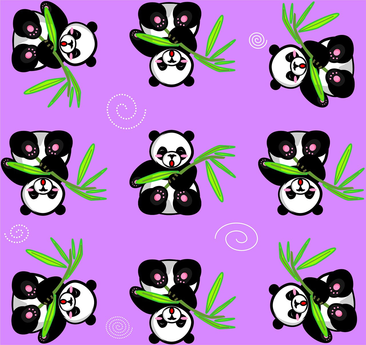 Panda Ungu Bambu Gambar Gratis Di Pixabay