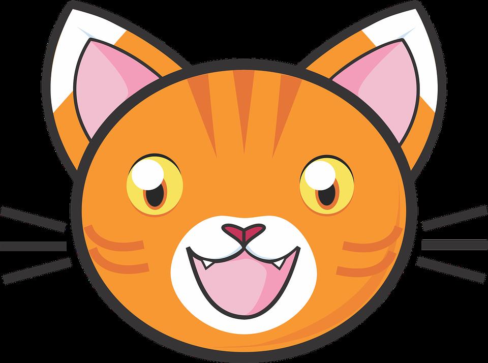 Orange Cartoon Cat With Blue Nose Adultcartoon Co