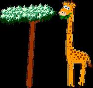 girafe dessin mignon du cul en français