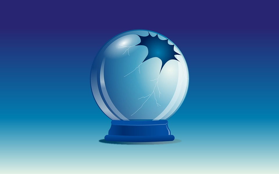 Glass Ball, Rupture, Blue, Glass, Illustration