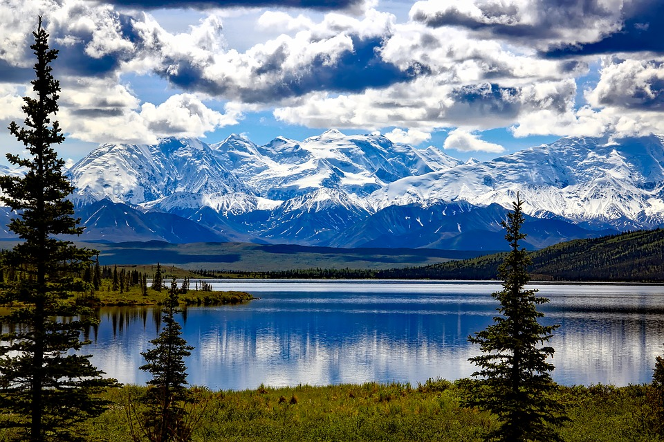 Parco Nazionale Di Denali, Alaska, Cielo, Nuvole