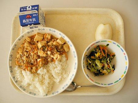 学校給食, 昼食, カフェテリア, 日本の学校給食, 日本, 茶色校, 学校給食