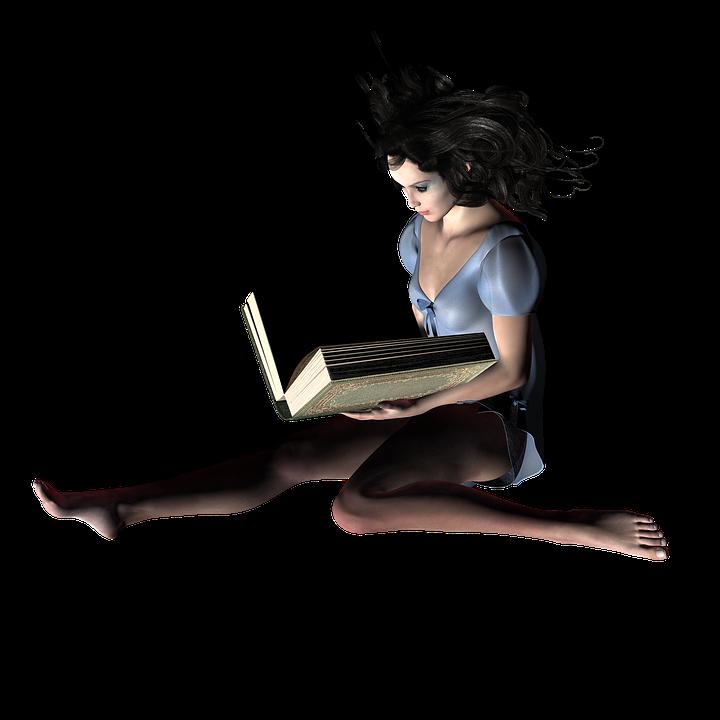 Free Illustration Book, Woman, Read, Fantasy - Free Image -9485