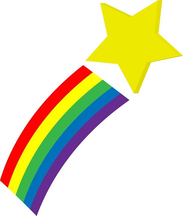 Bintang Jatuh Ruang Pelangi Gambar Gratis Di Pixabay